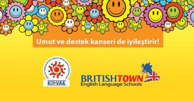 """British Town Dil Okulları'ndan Büyük Destek """"Kitvak'la Biz De Varız!"""""""